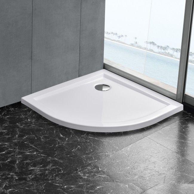 [neu.haus] Duschwanne 100x100cm reinweiß Duschtasse