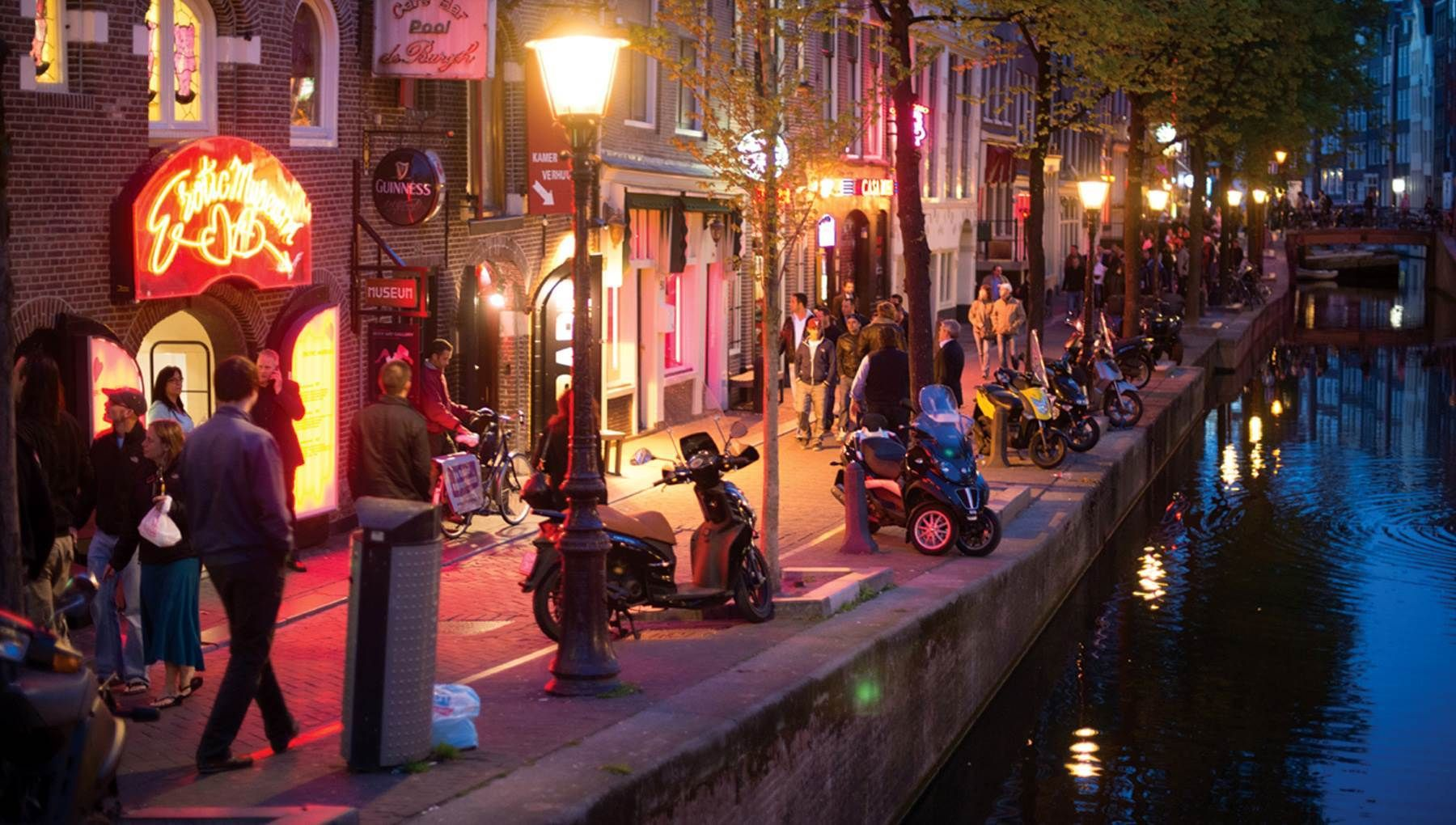 Did you know that the De Wallen area, or 'The Red Light District' is actually one of the safest areas of Amsterdam?