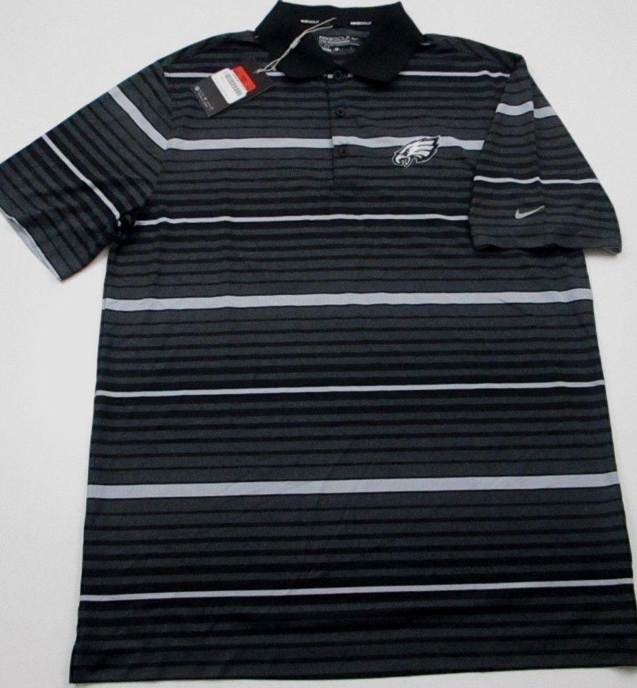 300770fe New Nike Dri Fit L large Philadelphia Eagles NFL polo golf shirt ...