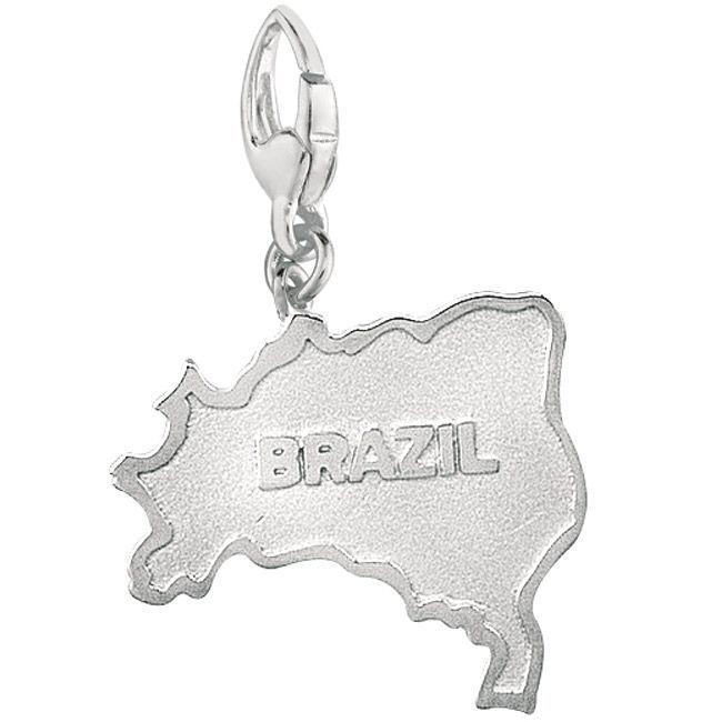 Sterling Silver Brazil Charm, Women's