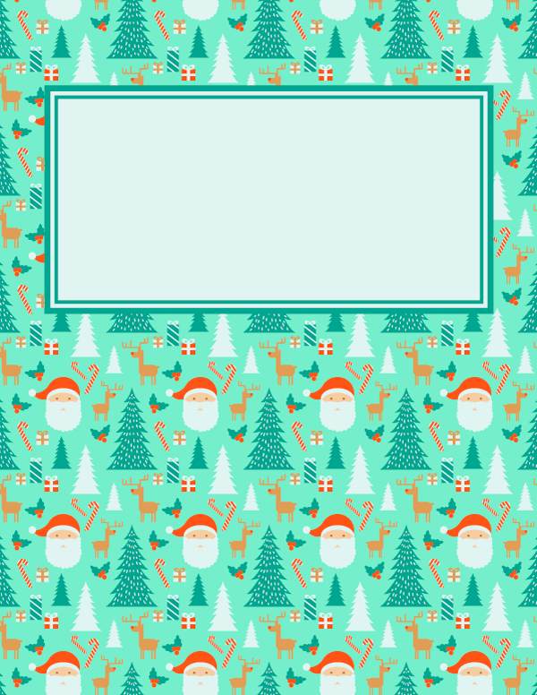 Free Printable Christmas Binder Cover Template Download The Cover