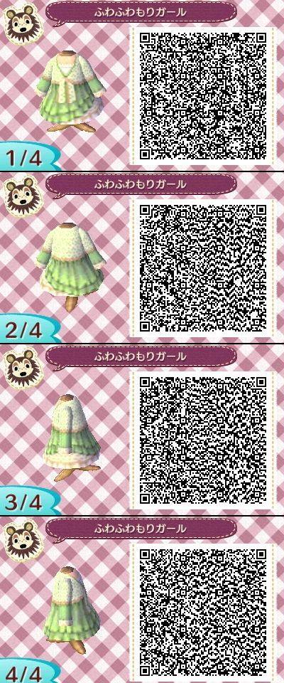 Très Animal Crossing New leaf QR Code dress | Animal Crossing QR Codes  DM19