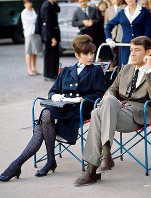 Audrey Hepburn and Peter O'Toole on set of How to Steal a Million