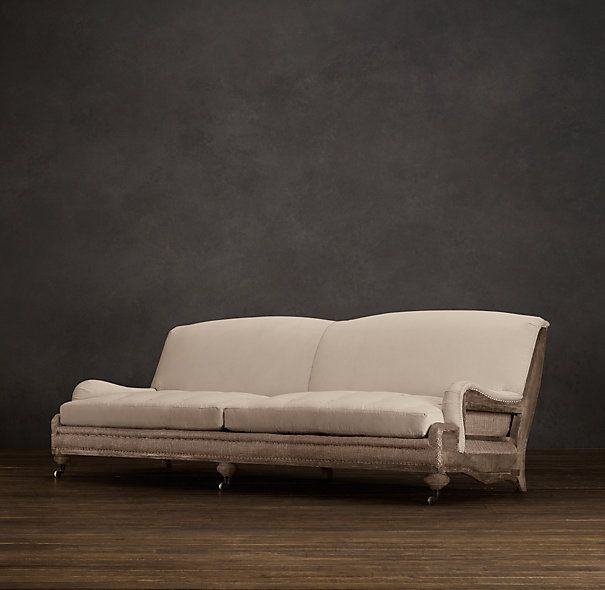 Astonishing Deconstructed English Roll Arm Sofa Antiqued Cotton A Home Interior And Landscaping Ologienasavecom