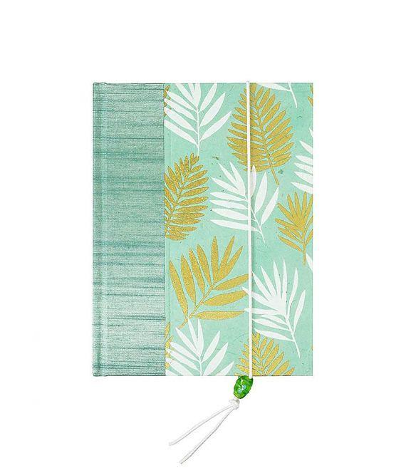 gorgeous new address book palm leaves on aqua decorative cover