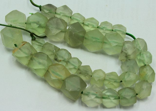 415CTS-1 STRAND FLUORITE BEADS 14 INCH + CLASP