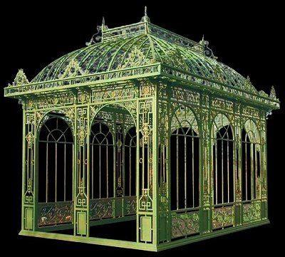 Incredible French Victorian Wrought Iron Conservatory This Magnificent French Conservatory Is Easily Assembled I Victorian Conservatory Outdoor Gazebos Gazebo