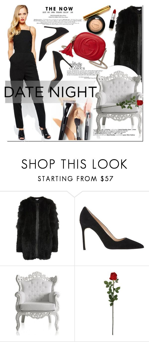 """""""Date Night: Jumpsuit Style"""" by nastya-d ❤ liked on Polyvore featuring Elizabeth and James, Manolo Blahnik, Laura Cole, Gucci, DateNight and formaljumpsuit"""
