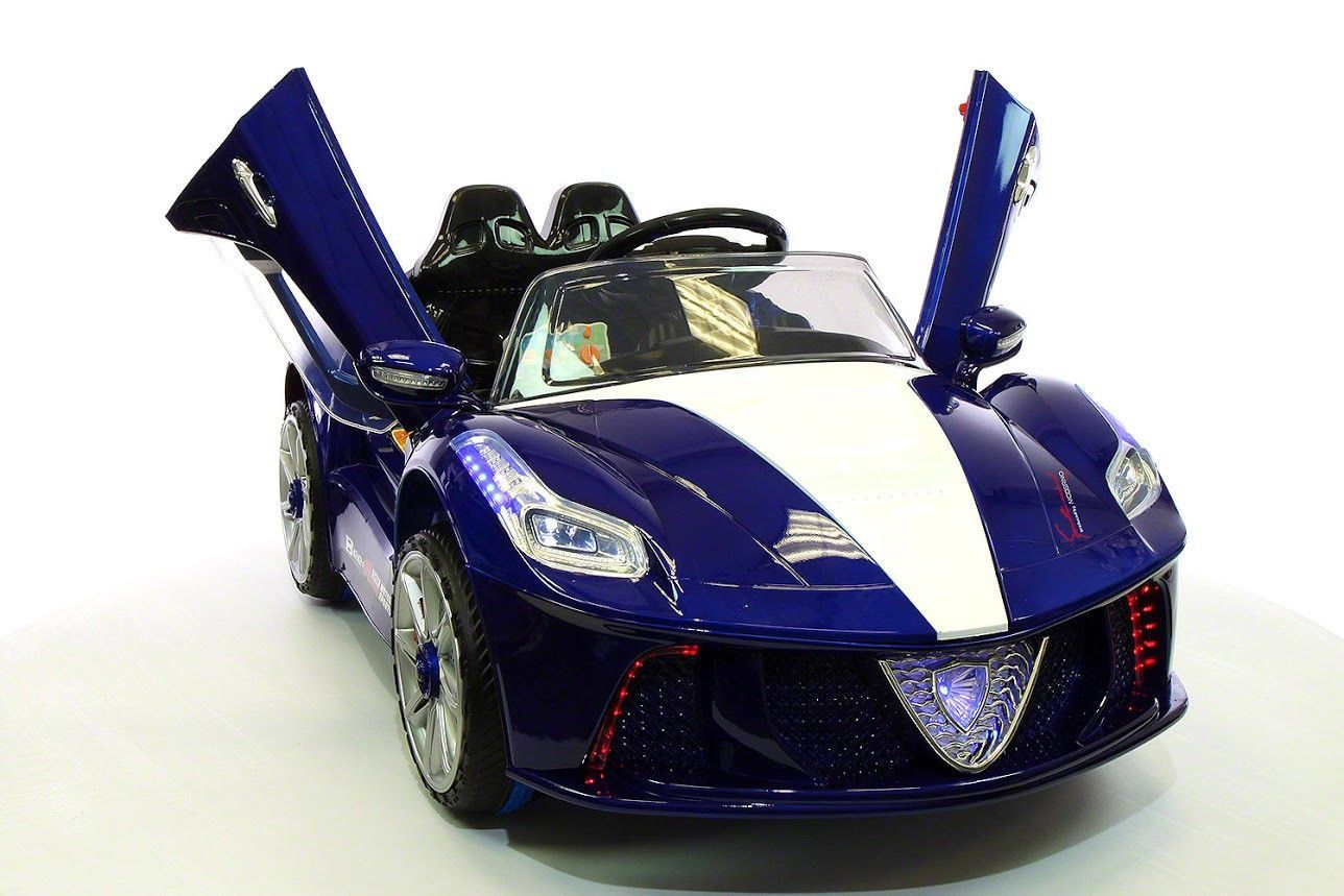 Ferrari Spider Style Kids Ride On Car Mp3 12v Battery Power Wheels R C Parental Remote Blue Toy Cars For Kids Car Power Wheels