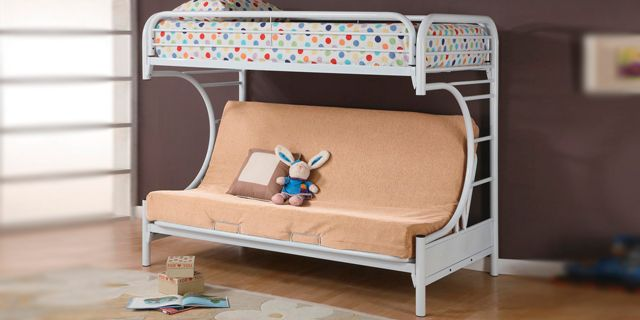 this bunk bed features the top is a twin bed and below is a futon couch this bunk bed features the top is a twin bed and below is a futon      rh   pinterest