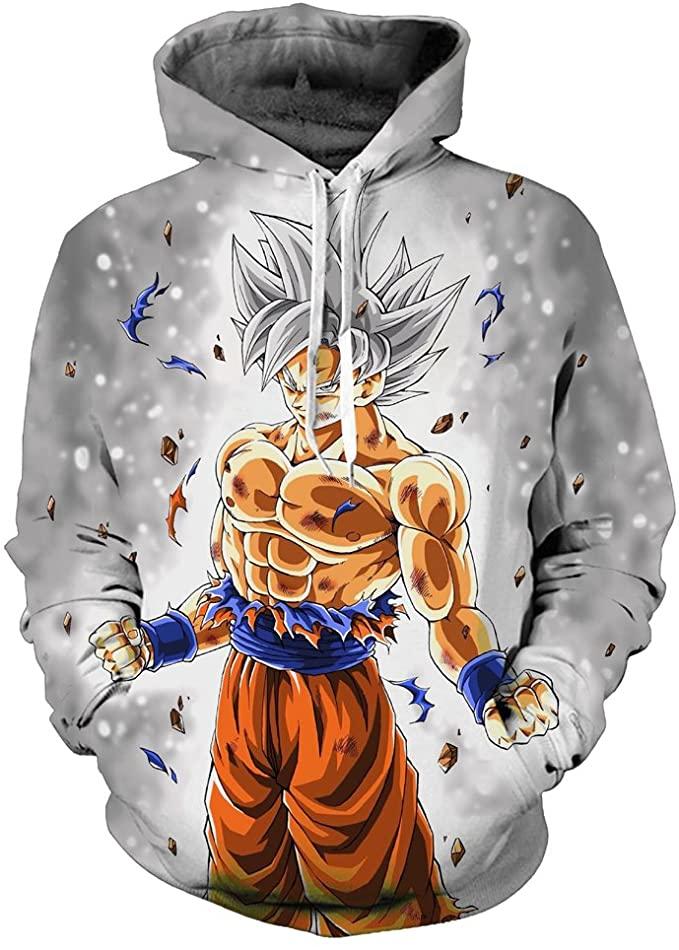 Yangxinyuan Unisex Hoodies Dragon Ball Z Goku 3d Print Pullover Sportswear Sweatshirt Tops 2xl 08 At Amazon Men S Clo Anime Hoodie Hoodies Cheap Hoodies Men