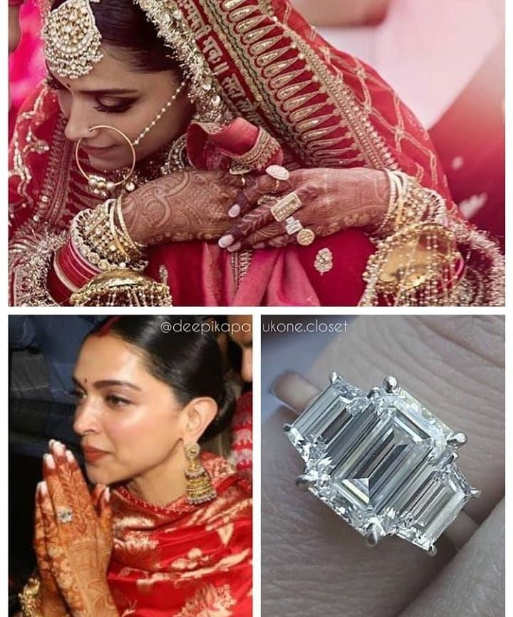 Deepveer Engagement Ring Most Awaited Picture Of The Year Are Out At The Officia Bollywood Wedding Deepika Padukone Style Bridal Jewellery Indian