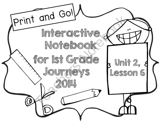 First Grade Interactive Notebook Journeys 2014 Unit 2