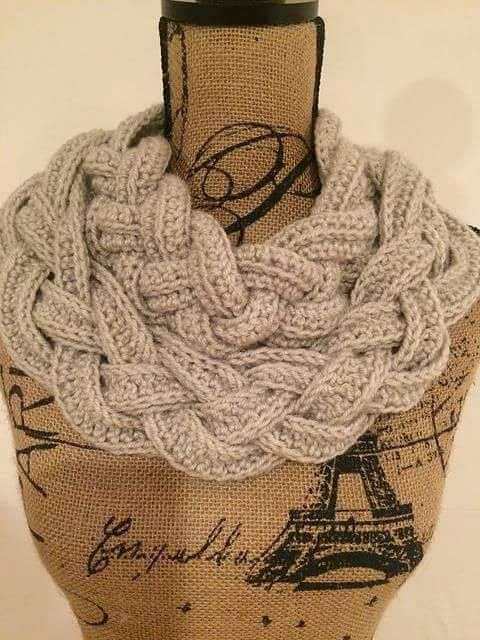 Tina\'s handicraft : Double Layered Braided Cowl   Free Crochet ...