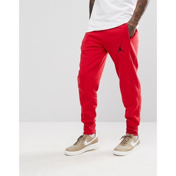 235085ef5f6c Nike Jordan Flight Joggers In Red 823071-687 ( 98) ❤ liked on Polyvore  featuring men s fashion
