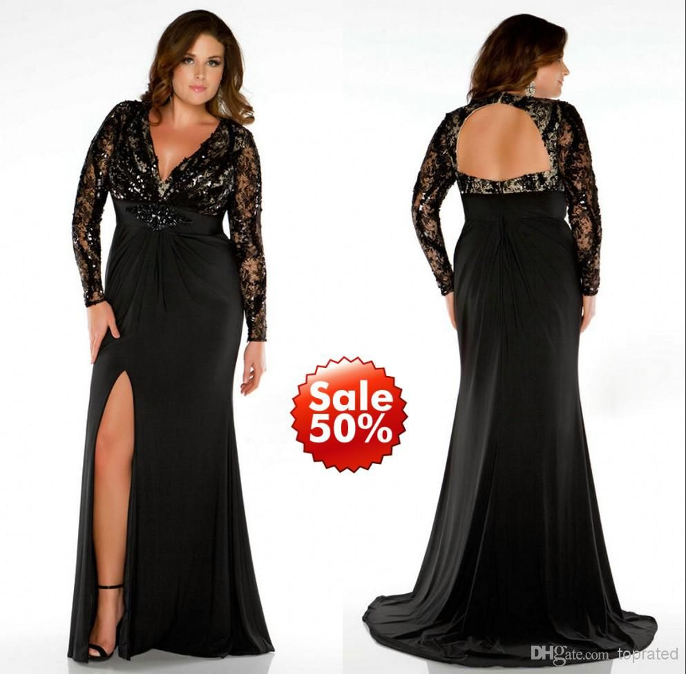 Emejing Plus Size Black Evening Gowns Photos - Mikejaninesmith.us ...
