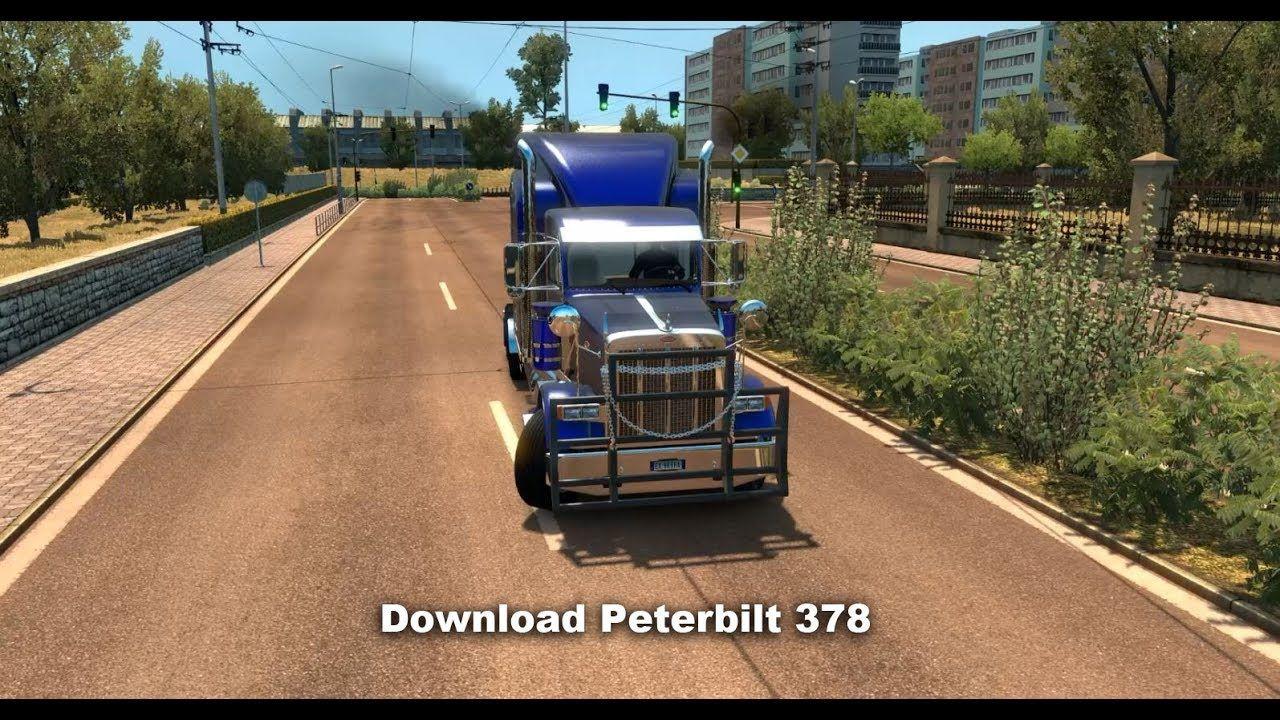 Euro Truck Simulator 2 Caminhao Peterbilt 378 Game Pinterest