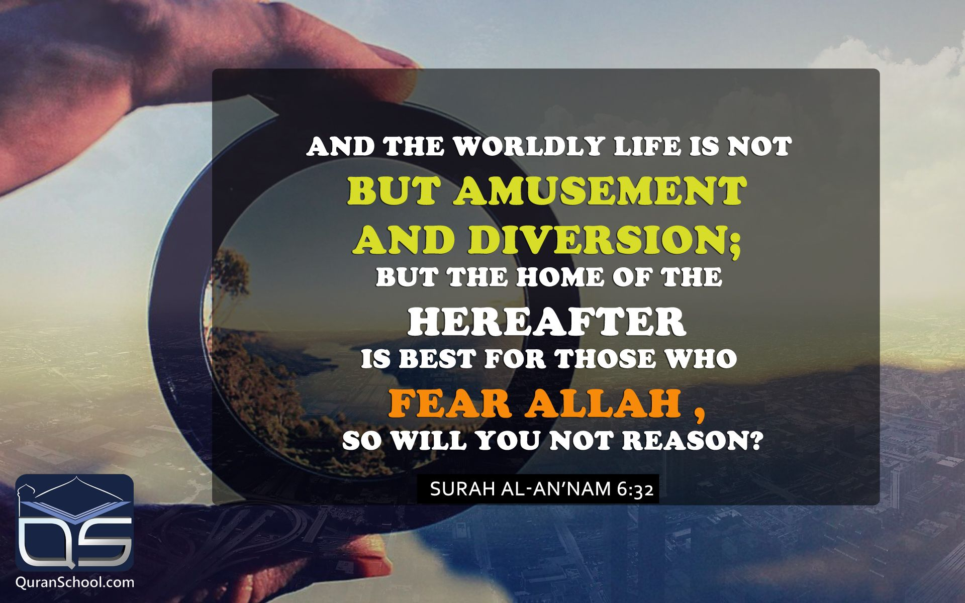 And the worldly life is not but amusement and #diversion; but the home of the Hereafter is best for those who fear #Allah , so will you not reason? SuraH Al-An'nam 6:32 http://bit.ly/1PgtFLO