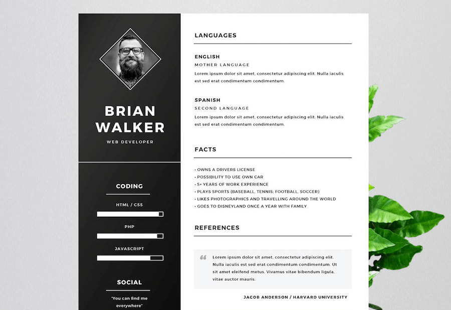 Free Resume Templates 2019 Psd