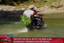 Protestan En El Batey De San Juan Exigiendo Terminación De Obras #Video