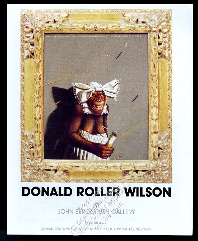1989 Donald Roller Wilson chimpanzee art NYC gallery ...