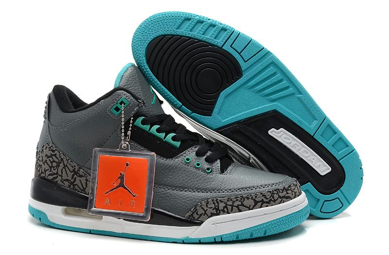 huge selection of 0eed9 6db74 Air Jordan 3 Grey Cement Tiffany Blue White Cheap Jordans