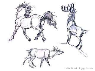 Shishir Naik blog #horse #deer #shishir #sketch #animal