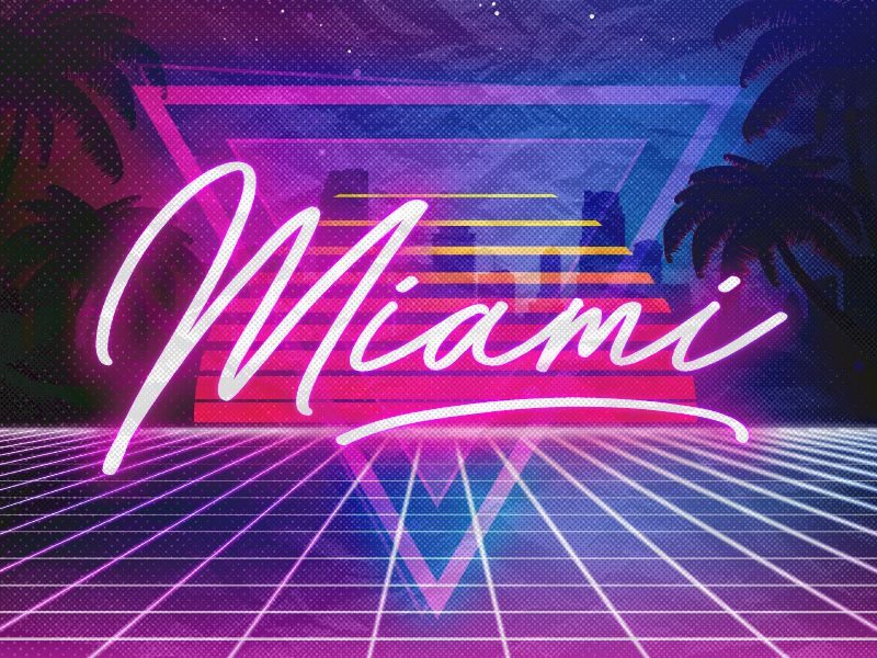 Miami Vice Neon Lights Miami Art Deco Miami Vice Theme Miami Art
