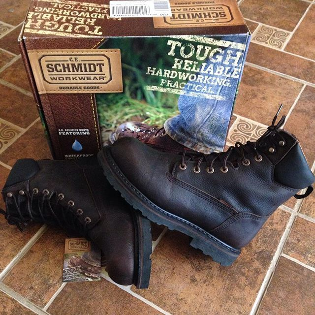 ecf0e152f54 Slick new CE Schmidt steel toe workboots ... they are TOUGH | Guy ...