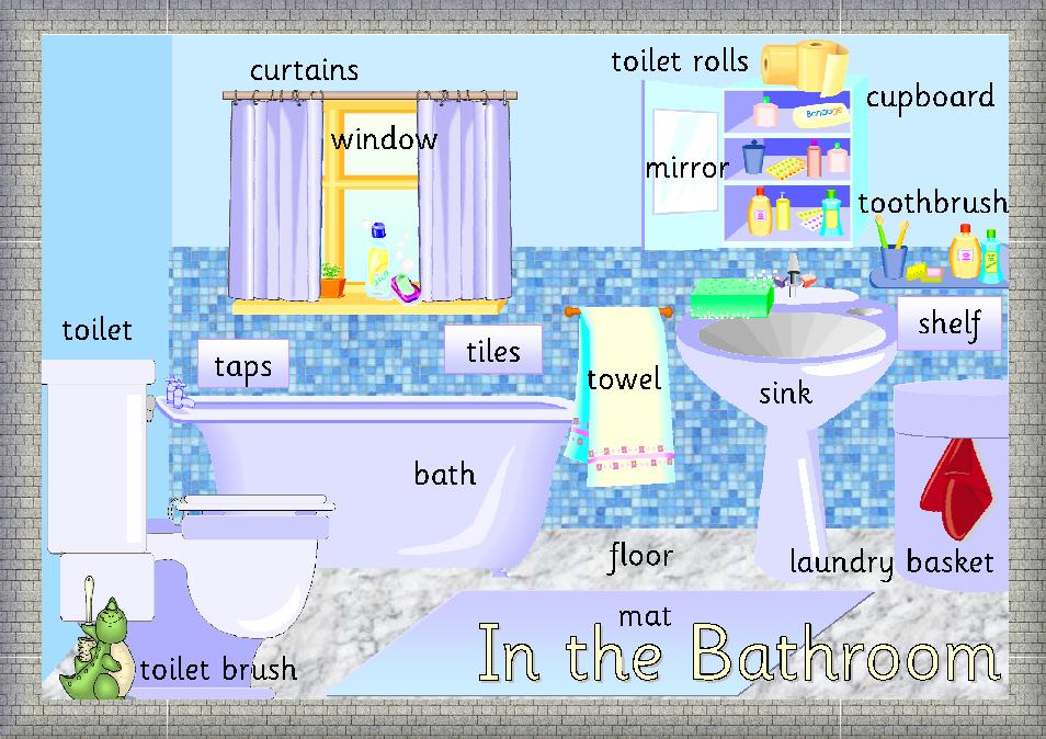In the bathroo