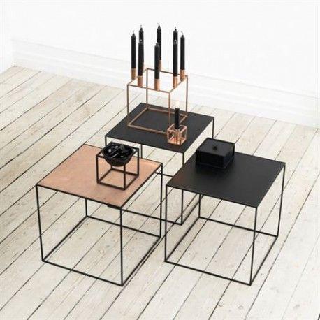 TWIN 42 TABLE BASSE CADRE NOIR cuivre et noir