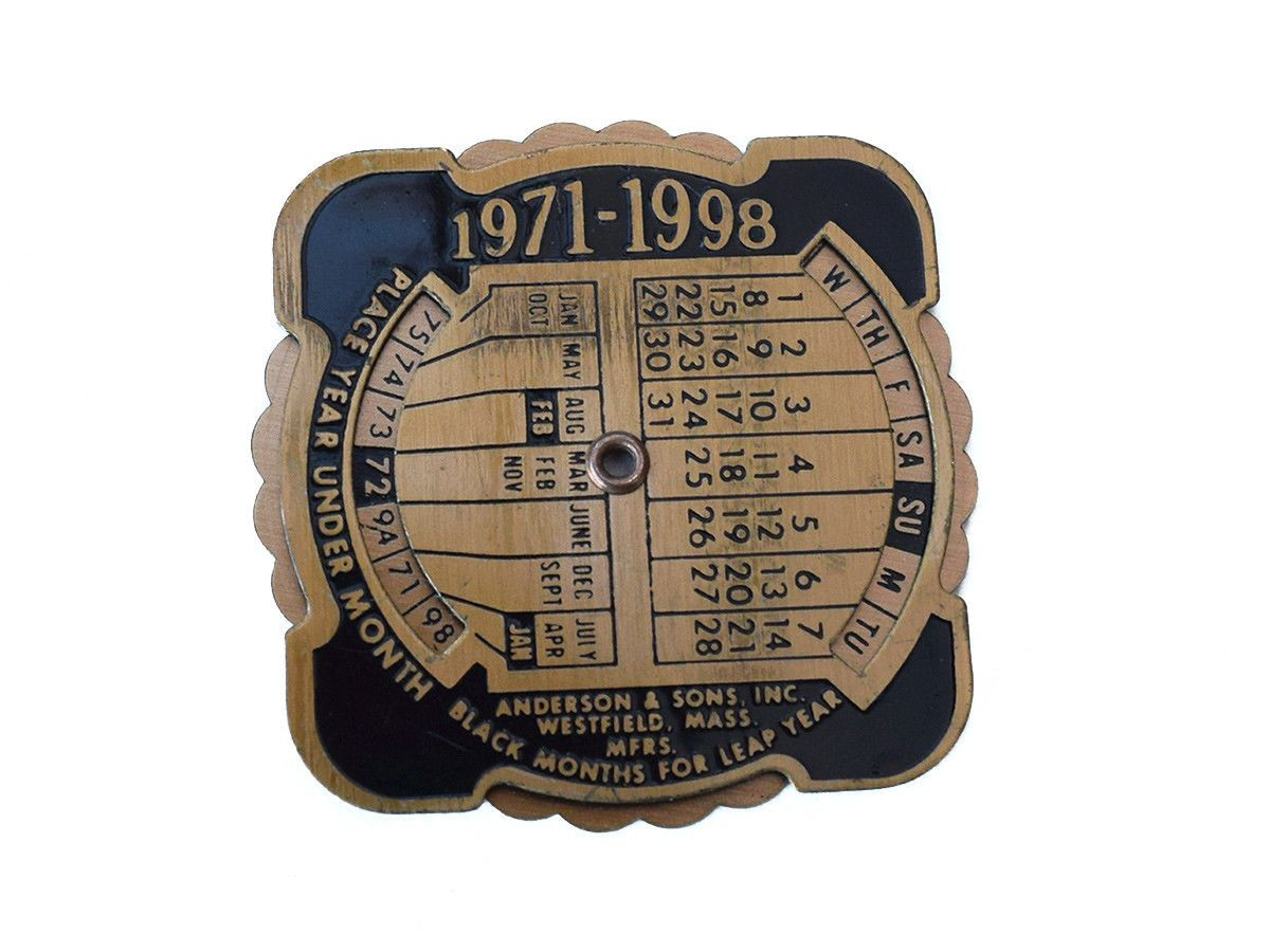 Anderson Sons Advertising Revolving 1971 1998 Brass Perpetual