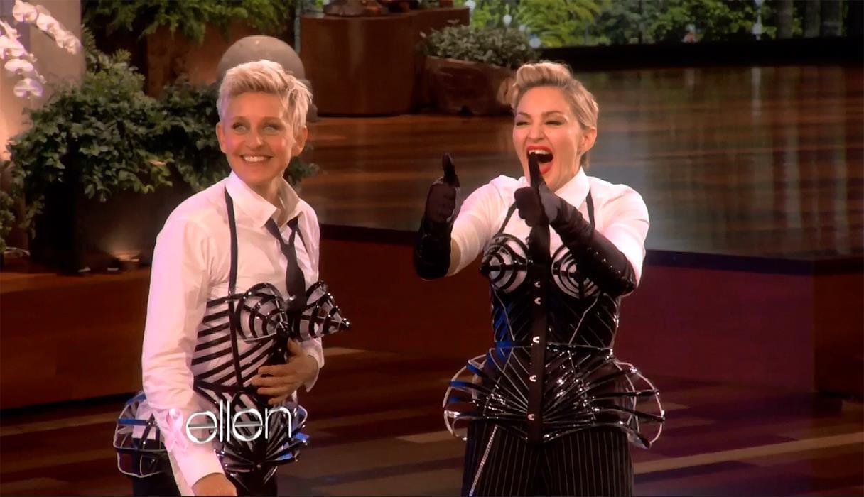 Madonna goes to Ellen Degeneres Show