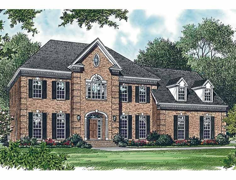 Colonial House Plan With 3256 Square Feet And 4 Bedrooms From Dream Home Source Hous Colonial House Plans Mediterranean Style House Plans Country House Plans