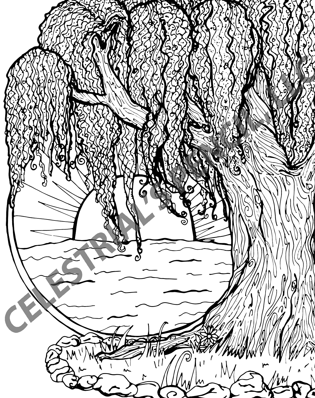 Page from Spring Into Summer Coloring & Activity Book - Weeping ...
