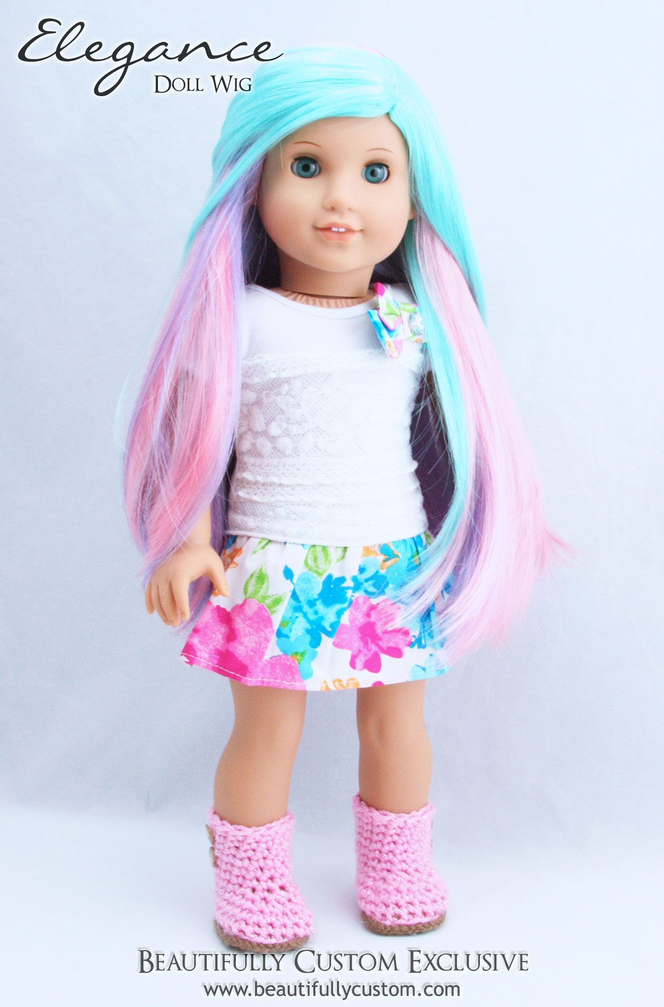 "Cute Little Puppies//Rainbow Dress for 18/"" Doll American Girl Doll Clothes"