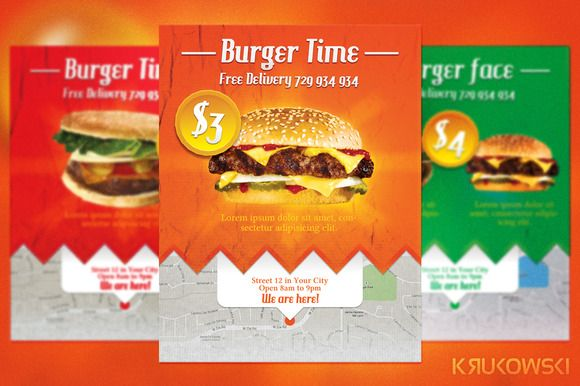 Burger Fast Food Flyer – Food Flyer Template