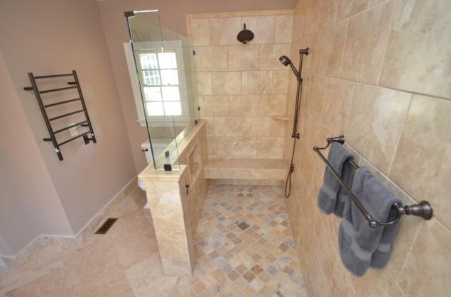 roll in shower design