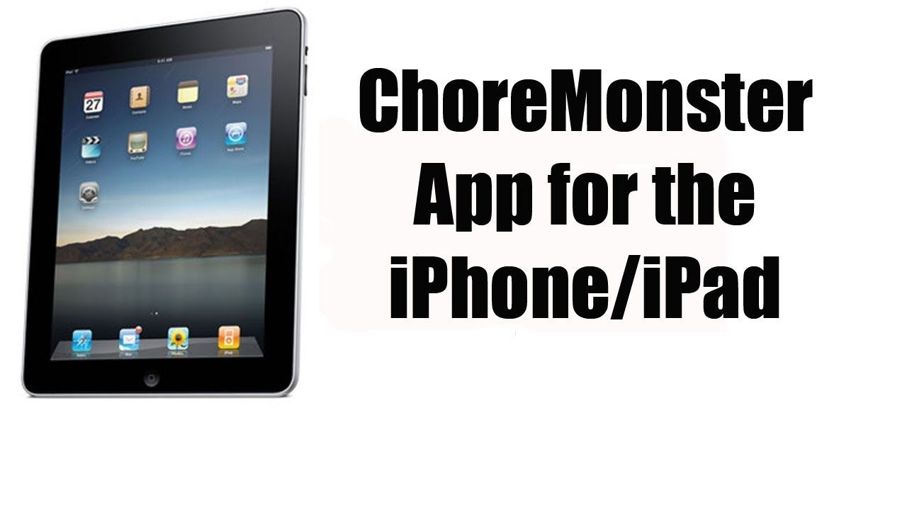 Choremonster app for the iphoneipad with images ipad