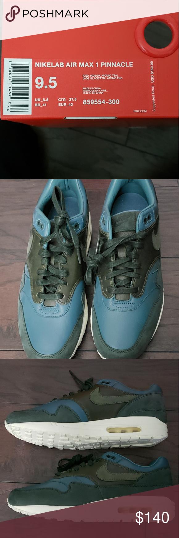 25aca33698a7 Nike airamax 1 pinnacle nikelab mens size 9.5 NWT