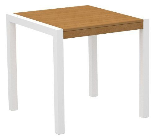 29.75 In. Modern Ecofriendly Dining Table In Plastique By