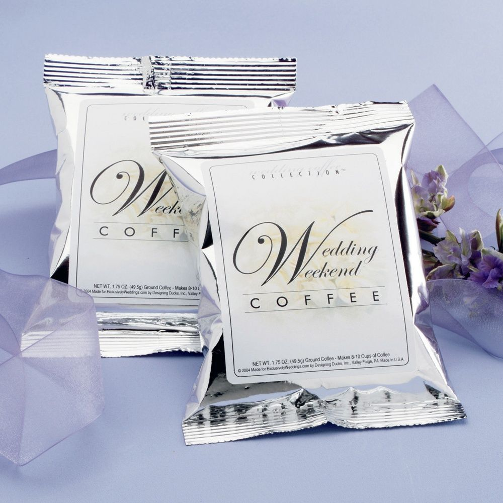 Wedding Weekend Coffee Personalized Wedding Favor ...