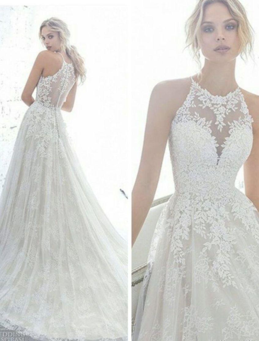 New Custom White Ivory Wedding Dress Lace Bridal Gown Size 2 4 6 8 10 12 14 Wedding Dresses Wedding Dresses Lace Lace Wedding Dress Vintage