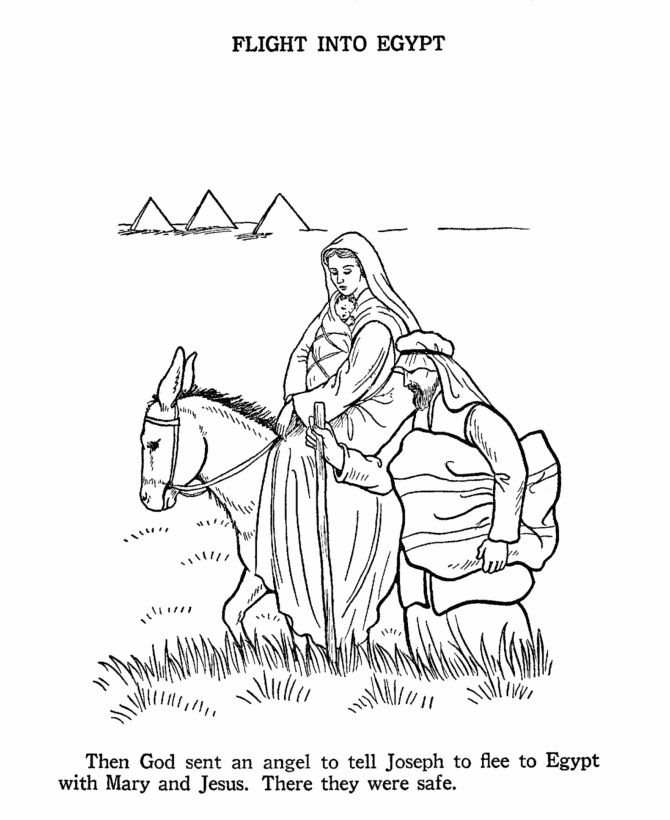 The Birth Of Jesus New Testament Coloring Pages