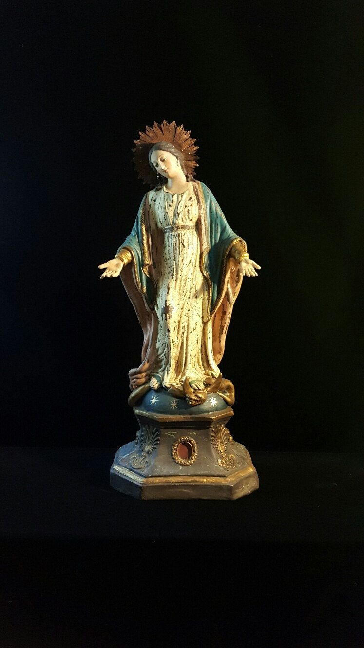 Reproduction of an Antique European Immaculate Conception statue ...