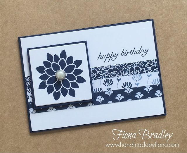 Happy birthday - Floral Phrases - Stampin' Up! - Fiona Bradley