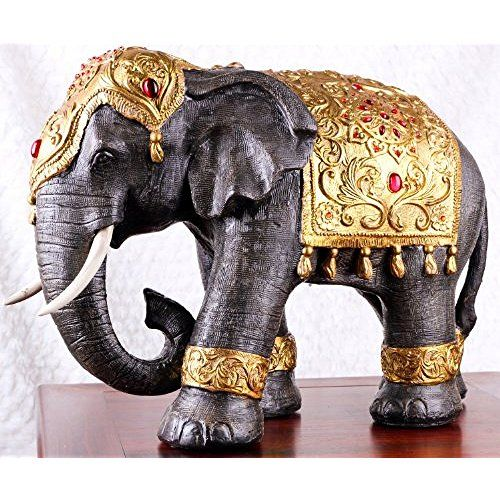 Elephant Home Decor: Large Thai Style Elephant Figurine Zen Home Decoration
