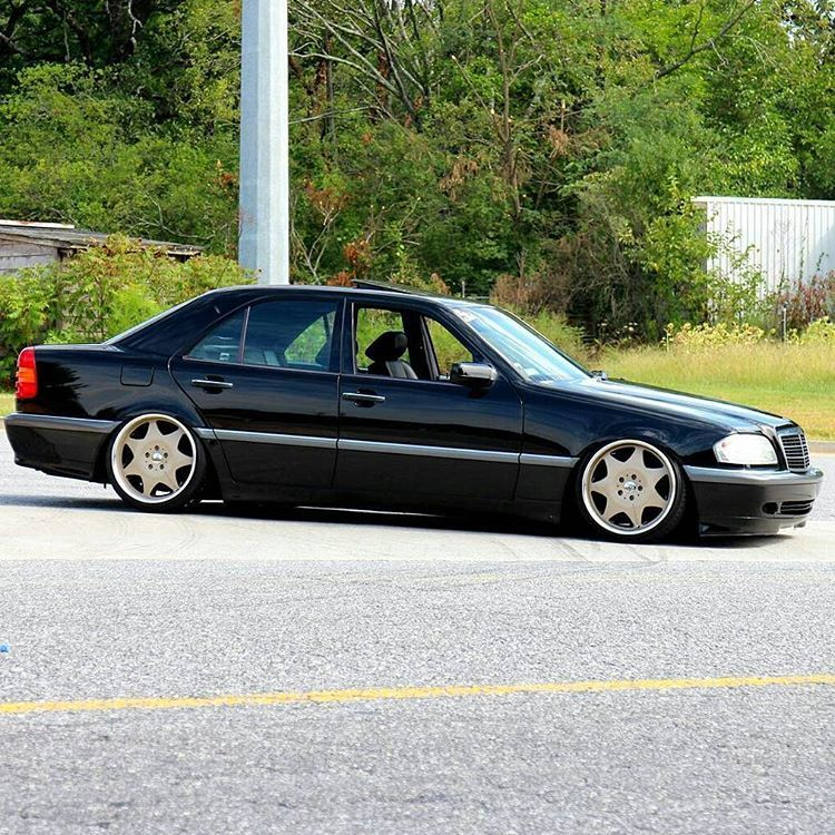 Slammed C-Class AutoCouture Wheels Looking