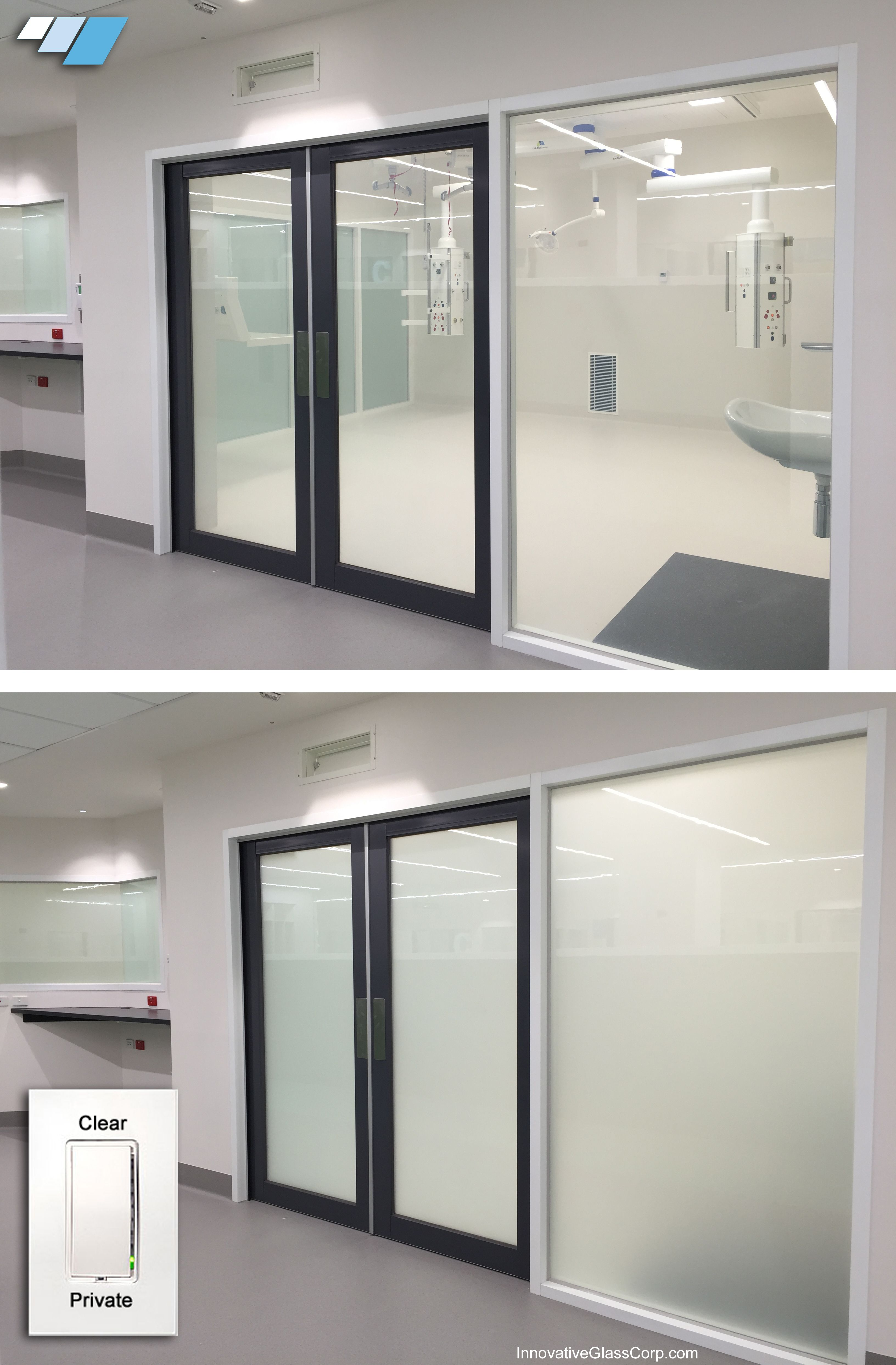 Lc Privacy Glass Is A Smart Glass That Can Be Switched Between Transparent And Frosted States For Patient Priva Smart Glass Home Technology Healthcare Design