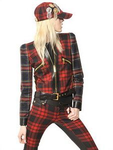 Fausto Puglisi - Wool Tartan & Nappa Leather Jacket   FashionJug.com
